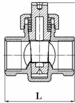 Схема крана конусно-сальникового в разрезе